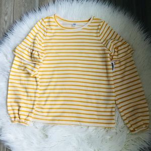 Old Navy yellow striped sweater NWT